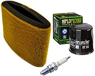 Tune Up Kit Air Filter Oil Filter Spark Plug ATV for Kawasaki Prairie 300 KVF300
