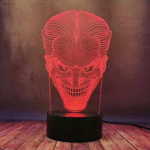 Moderno Comodino Lampada Da Scrivania Creativa 3D DC Comic Batman Enemy Joker Cattivo Modello Lava Night Light LED Alimentazione Batteria Stereo Illuminazione Portatile Del Fumetto Del Bambino Regalo