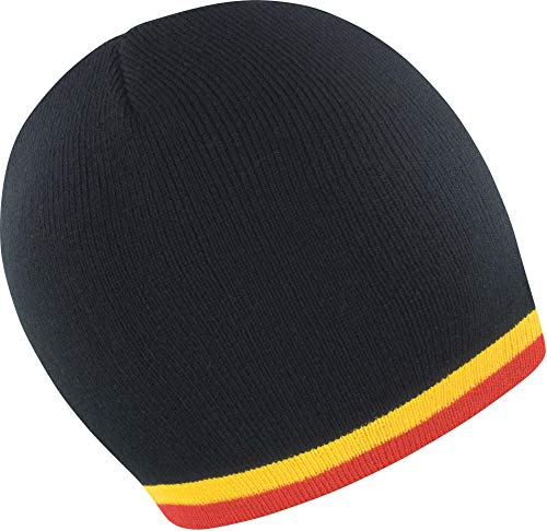 Bonnet Supporter - Black/Yellow/Red, One Size, Unisexe