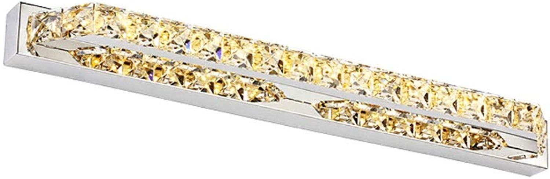Haodan electronics Spiegellampen Kristall LED Spiegelleuchte Champagner Wei Edelstahl Schlafzimmer Wandleuchte Wasserdicht Fahrer (Farbe   Warm Weiß, Gre   10W 40cm)