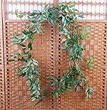 XFLOWR Artificial Willow Vine Faux Plant para decoración de Bodas Plantas Artificiales Hojas Falsas Garland Rattan Lierre Artificiel Green