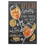 artboxONE Poster 30x20 cm Cocktails Typografie Aperolspritz