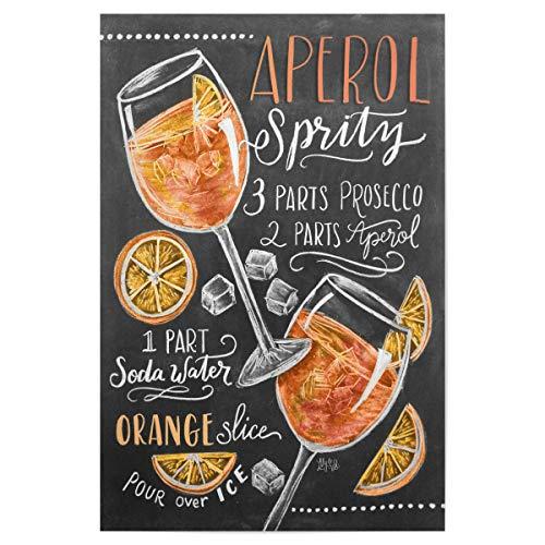 artboxONE Poster 30x20 cm Cocktails Typografie Aperolspritz - Bild Aperolspritz Aperol Spritz