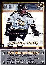 (CI) Warren Peters Hockey Card 2000-01 Saskatoon Blades 25 Warren Peters