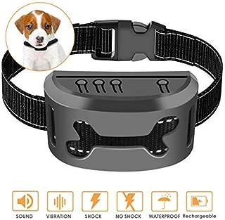 Rapchel Bark Collar, 2019 Upgrade Version, Harmless Bark Collar for Small Medium Large Dog, Rechargeable Anti bark Collar, Beep Vibration and No Harm Shock Smart Detection Module