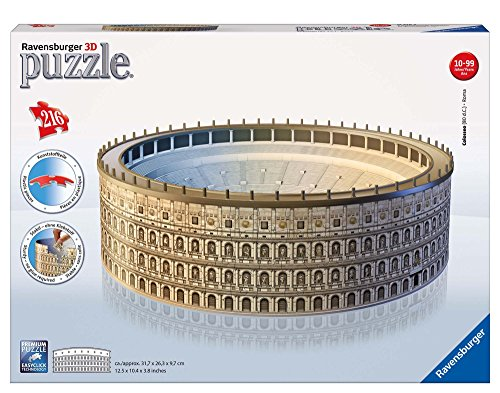 Ravensburger-12578 4 Arquitectura Puzzle 3D, Color Beige, Gris, 39.9 x 27.2 x 7.4 (12578)
