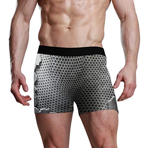 XiangHeFu mannen Boxer Briefs Crack metalen sjabloon achtergrond texturen Stretch ademende onderbroek