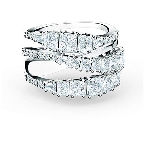 SWAROVSKI Twist Wrap Ring White Rhodium Plated - Ring Size 6