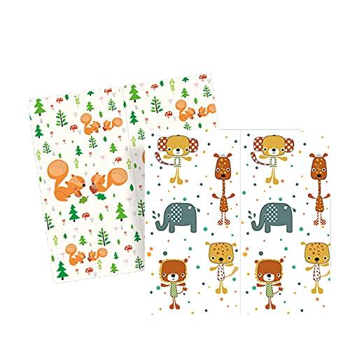 Fudeer Alfombrillas De Juego para Bebé Alfombrilla Espuma Plegable Impermeable Gatear Alfombrilla Juego Portátil Grande Gruesa Alfombra Reversible Antideslizante Exteriores,3,1.8 * 2M * 1.5cm
