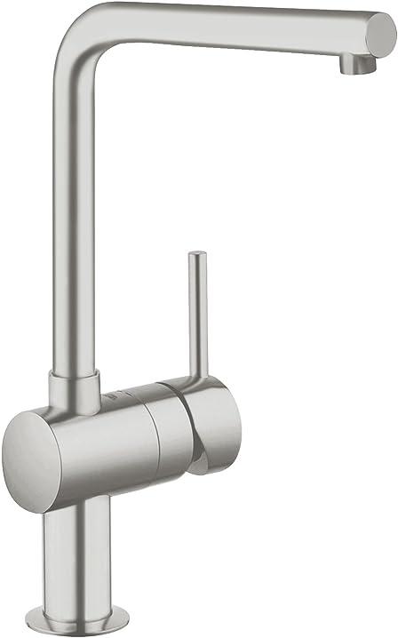 Miscelatore monocomando per lavello, grigio (super steel) grohe 31375dc0