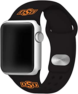AFFINITY BANDS Oklahoma State Cowboys Silicone Watch Band Compatible with Apple Watch (38mm/40mm Black) - Licensed NCAA Watch Band