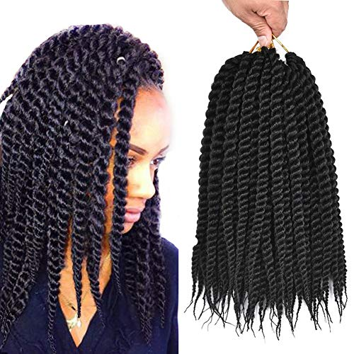 Refined Hair Synthetic Crochet Braids For Woman 12Inch 12Roots/Pack Ombre Senegalese Twist Crotchet Hair Extensions 6Packs/Lot (12inch,1B)