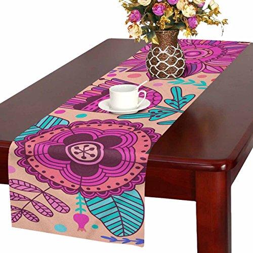 Zenzzle Camino de mesa, 40 x 183 cm, diseño de flores de colores...