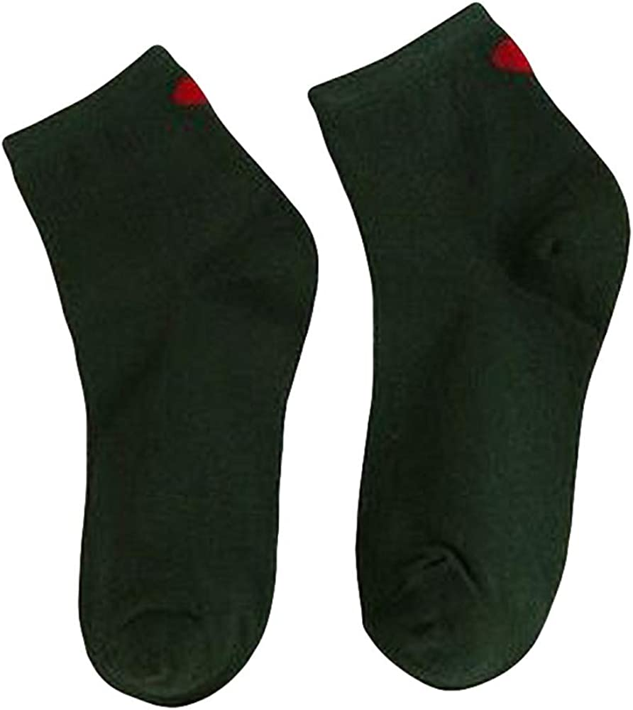 Swyss Women Winter Warm Solid Floor Socks Heart-shape Printed Low Cut Ankle Socks Christmas Gift for Girls