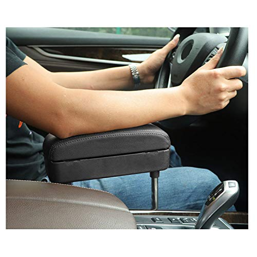 CDEFG Car Elbow Support Console Organizer Adjustable Comfortable Wireless Driver Armrest Pads Universal (Black)