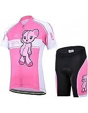 Ateid Fietsshirt voor kinderen, wielershirt met korte mouwen en fietsbroek.