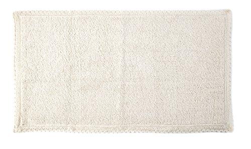 Uno Casa Pura Fibra tapijt, Polyka, 100% katoen, wit, 50 x 90 x 2 cm