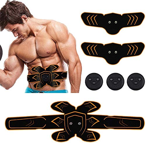 YQGOO Abdominal Muscle Trainer Massage Stimulator Body Slimming Machine Arm Belly Exerciser Electric Builder Stimulator for Man Woman