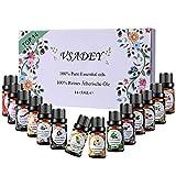 VSADEY Aceite Esenciales Aromaterapia Top 14 Aceites Set de Regalo Perfecto Aceites Esenciales para Humidificador y Difusor Aroma,SPA,Masajes,Relajarse,Set Essential Oils 100% Puro y Naturales