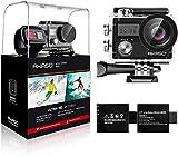 AKASO Brave 4 4K 20MP Cámara de Acción Ultra HD Con EIS, Wifi Cámara Deportiva Impermeable 30M...
