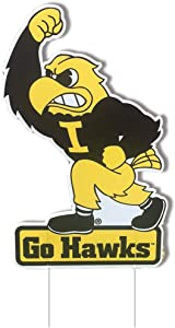 VictoryStore Yard Sign Outdoor Lawn Decorations, University of Iowa Herky Yard Sign with 2 Stakes
