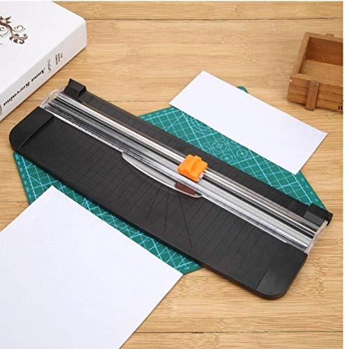 Oulensy 1x zufällige Farbe Tragbare A4 Papier Trimmer Schneider Guillotine Lineal Papierscheren für Foto Office Papieretiketten Schneiden Kunststoff-Papierschneidemaschine