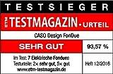 Caso 2282 Induktions FonDue für 8 Personen 60 bis 240 Grad celsius Temperatureinstellung, gleichmäßige Erwärmung durch hochwertigen Fonduetopf, schwarz - 12