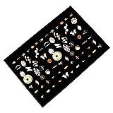 Exhibidor y Caja Organizar Joyas - 34x23cm Acabado en Cuero Sintético Elegantemente Forrado de...