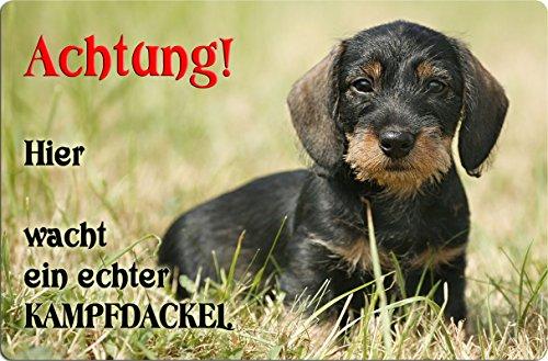 +++ DACKEL Teckel Dachshund - Metall WARNSCHILD Schild Hundeschild Sign - DCK 23 T55