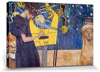 Tamengi Gustav Klimt Canvas Prints Custom Wall Art for Living Room Canvas Printer - The Music, 1895 (16 x 20 inches)