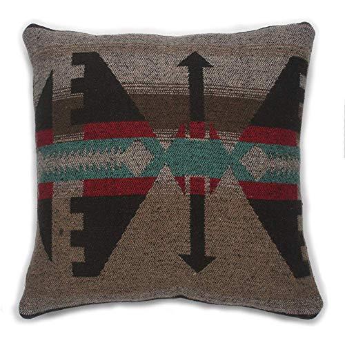 Ruth&Boaz Inka Pattern Square Decor Pillow Case Cushion Cover (16 X16, A-Brown-B)