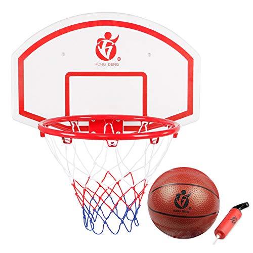 Kinderen basketbalrugplank en mand set, aan de muur gemonteerde draagbare pomp is uitgerust met tennis en indoor kinderen buitensporten speelgoed