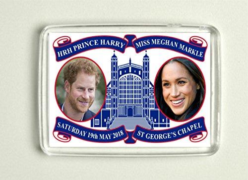 Imán conmemorativo de la boda de Prince Harry y Meghan Markle Royal