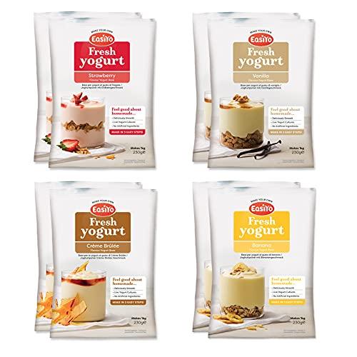 EasiYo Yogurt 8 Sachet Pack | EasiYo Everyday Mixed Pack | 2 x Banana 2 x...