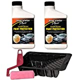 Road Warrior Plus Paint Protection Film - Temporary Roll-On Automotive Exterior Protector from Rocks, Scratch and Chips - Coating Applies White, Dries Clear 16oz Kit