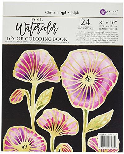 Prima Marketing Christine Adolf 8x10 FoilWatercolor Book