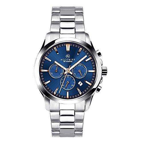 Accurist Herren Chronograph Uhr mit Edelstahl Armband 7202.01