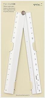Midori Multi Aluminium Ruler 30cm Silver