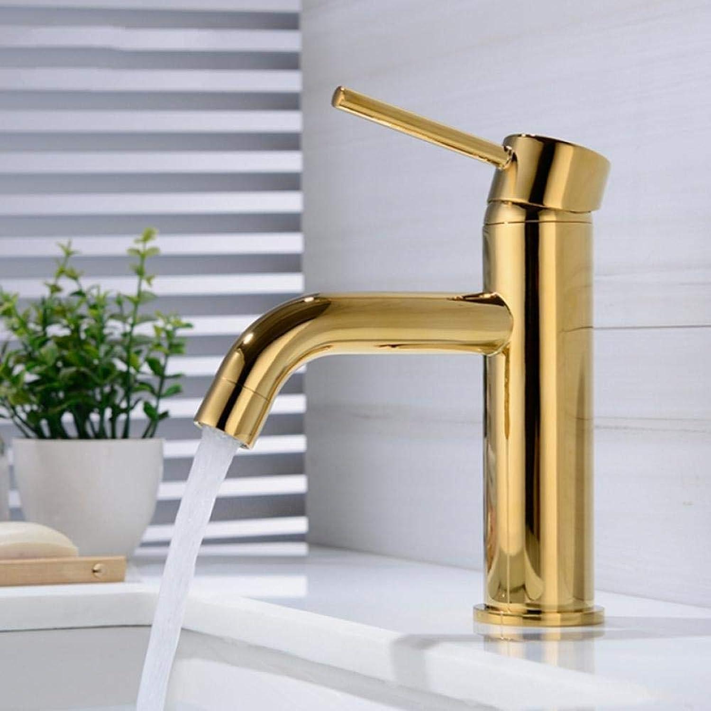 Wasserhahn Neue Gold Einzigen Handgriff Waschtischarmaturen Cold & Hot Mixer Becken Waschbecken Leitungswasser Küchenarmatur Bad-accessoires