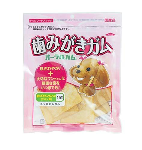 ダイワ 犬用おやつ 国産 歯磨きガム せんべい チキン 15枚