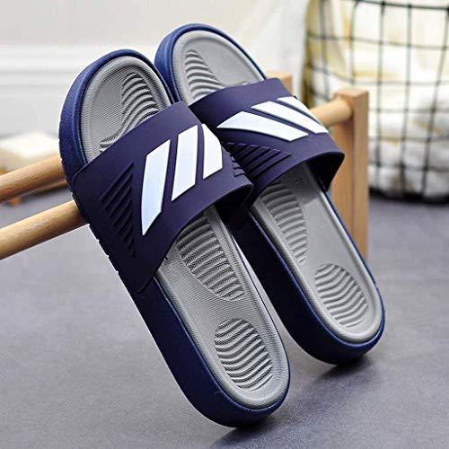 TQJ Apatillas de Baño Antideslizantes Zapatillas De Baño para Hombre Resbalones En Sandalias De Verano Baño Interior Antideslizante Sandalias De Baño Sandalias De Ducha (Size : 43)