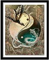 クロスステッチスタンプキット11CTプレプリントクロスステッチ-美しい風景の花-DIYクロスステッチ針仕事-クリスマスウォールアート家の装飾クロスステッチ-40x50cm(11CTプレプリントキャンバス)