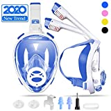 SwimStar 2020 Foldable Full Face Snorkel Mask for Women and Men, Anti Fog Dry Top Snorkeing Set, 180° Panoramic View Diving Mask with...