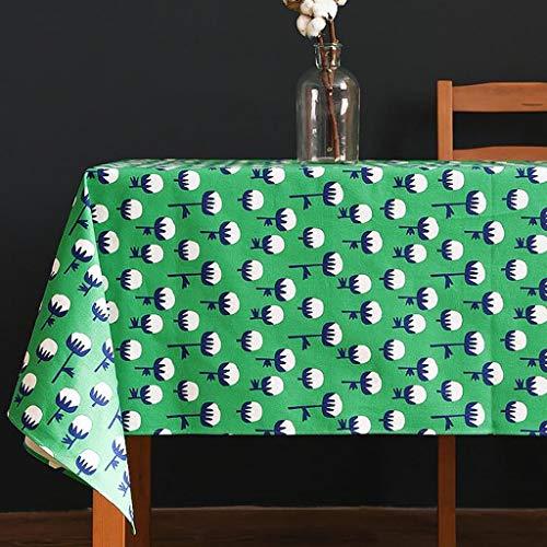 WEWE PVC Bedrukte Tafelkleden, Waterdichte Olie-proof Thee Tafelmatten Rechthoekige Boheemse Stijl Decoratieve Doek Voor Café Tuintafel