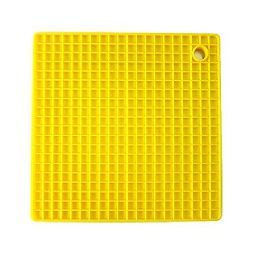 Super1798 - Alfombrilla antideslizante de silicona para cocina, estilo panal, resistente al calor