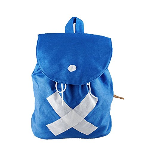 MIUNIKO Unisex Anime Cosplay Tony Chopper Blue Canvas School Backpack One Piece Shoulder Bag