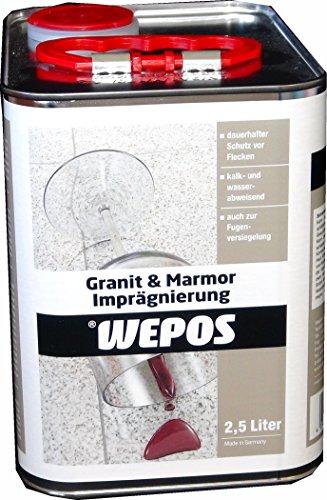 Wepos 2000200626 Granit & Marmor Imprägnierung 2,5 L