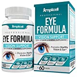 Eye Formula Vision Support - 60 Eye Vitamin Capsules - Daily Eye Vitamins with Lutein & Zeaxanthin - All-in-One Eye Health Supplement w/Vitamin A, Vitamin E, Zinc, Calcium & More for Optimum Eye Care