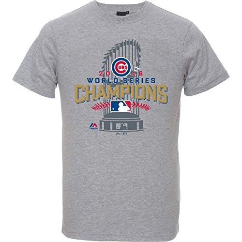 MLB Baseball T-Shirt CHICAGO CUBS World Series Champions 2016 Trophy (L)