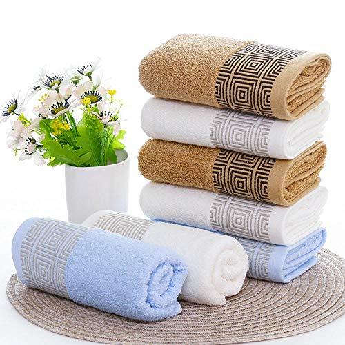 Dthlay Handdoeken, 3 stuks, absorberende handdoek met katoenen opdruk, handdoek, huishouddoek, handdoek, handdoek, 3 stuks